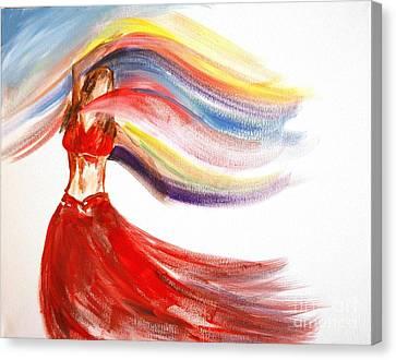 Belly Dancer 2 Canvas Print by Julie Lueders