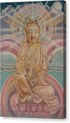 Beloved Quan Yin Canvas Print by Pamela Mccabe