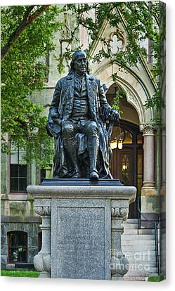 Ben Franklin At The University Of Pennsylvania Canvas Print by John Greim