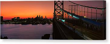Ben Franklin Bridge Canvas Print by Panoramic Images