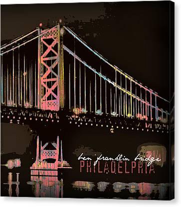 Ben Franklin Bridge Philadelphia Canvas Print by Brandi Fitzgerald
