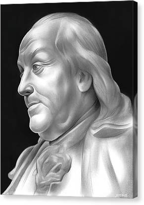 Ben Franklin Canvas Print by Greg Joens