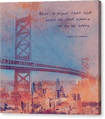 Ben Franklin Quote Canvas Print by Brandi Fitzgerald