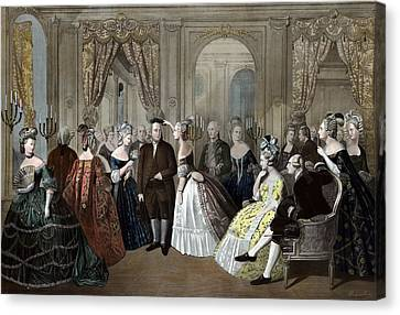 Ben Franklin's Reception At The Court Of France  Canvas Print by War Is Hell Store