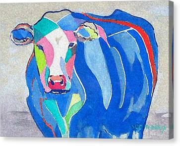 Ben Jerrys Cow Fantasy Canvas Print by Sue Prideaux