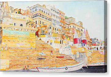Benares Canvas Print by Bidde