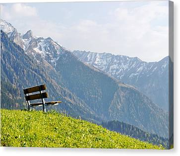 Bench Canvas Print by Rolfo Eclaire
