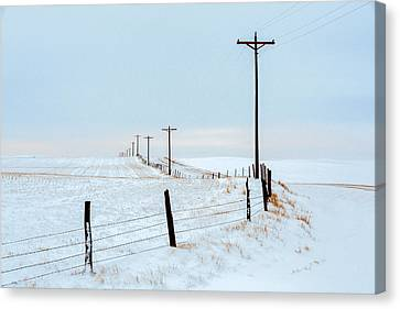 Bend In The Road Canvas Print by Todd Klassy