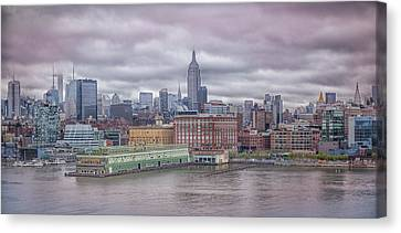 Beneath The Stormy Morning Canvas Print by Elvira Pinkhas