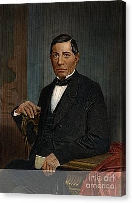 Benito Juarez (1806-1872) Canvas Print by Granger