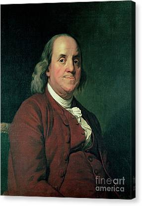 Benjamin Franklin Canvas Print by Joseph Wright of Derby