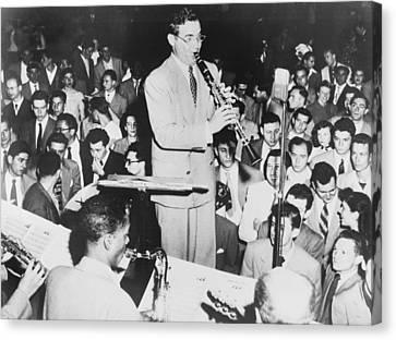 Benny Goodman 1909-86, Playing Canvas Print by Everett
