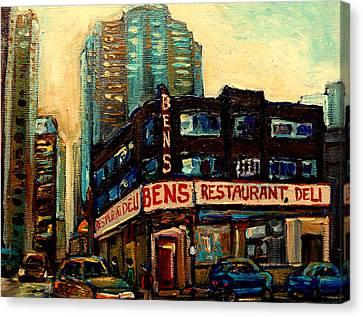 Bens Restaurant Deli Canvas Print by Carole Spandau