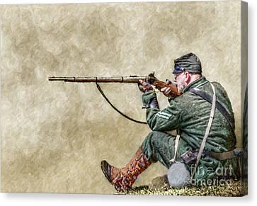 Berdan's Sharpshooters  Canvas Print by Randy Steele