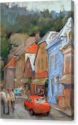 Bergen Sentrum Canvas Print by Joan  Jones