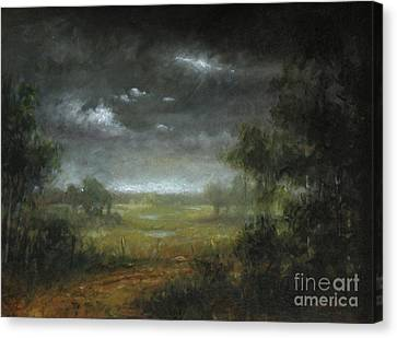 Berkshire Dirt Road Study Canvas Print by Larry Preston