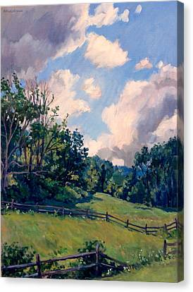 Berkshires Backlight Canvas Print by Thor Wickstrom