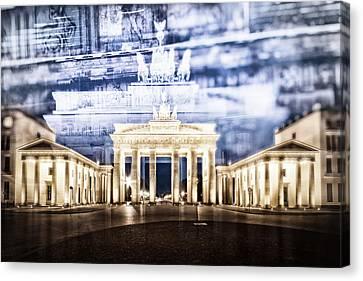 Berlin Brandenburg Gate In Detail Canvas Print by Melanie Viola