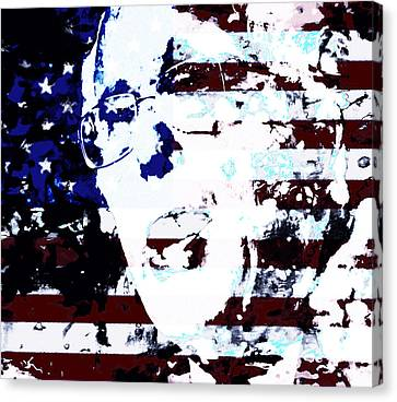 Bernie 2016 Canvas Print by Brian Reaves
