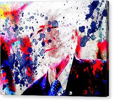 Bernie Sanders Paint Splatter Canvas Print by Brian Reaves
