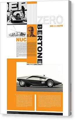 Bertone Poster Canvas Print by Naxart Studio