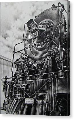Beside The Floodwall Mikado 1518 Canvas Print by Michael Lee Summers