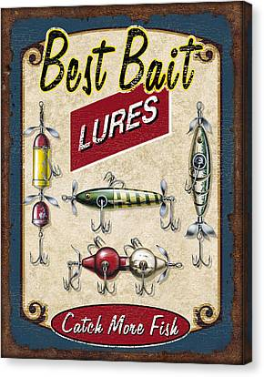 Best Bait Lures Canvas Print by JQ Licensing