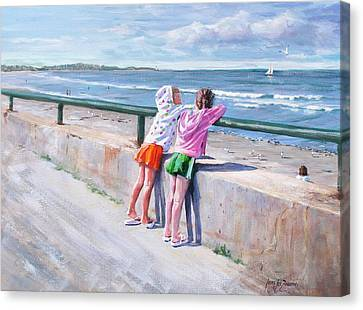 Best Friends Canvas Print by Laura Lee Zanghetti