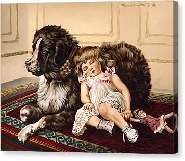 Best Friends Canvas Print by Richard De Wolfe
