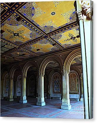 Bethesda Terrace Arcade In Central Park Canvas Print by James Aiken