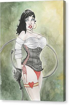 Betty Boop Dominatrix Canvas Print by Jimmy Adams