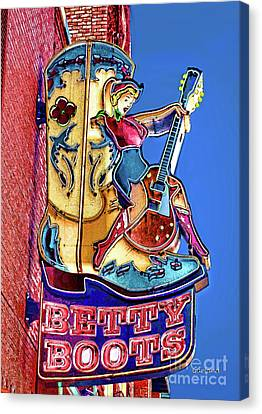 Betty Boots 2 Canvas Print by Garland Johnson