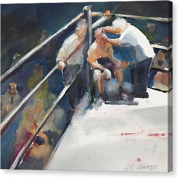 Between Rounds Canvas Print by Hil Hawken