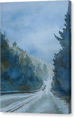 Between The Showers On Hwy 101 Canvas Print by Jenny Armitage