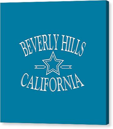 Beverly Hills California Tshirt Design Canvas Print by Art America Online Gallery