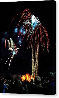 Beware The Alien Fireworks D6435 Canvas Print by Wes and Dotty Weber