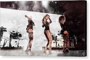 Beyonce 13 Canvas Print by Jani Heinonen