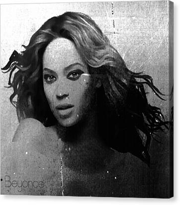 Beyonce Bw By Gbs Canvas Print by Anibal Diaz