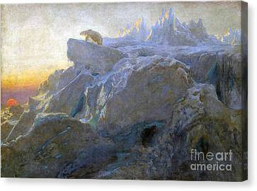 Beyond Man Footstep Canvas Print by Briton Riviere