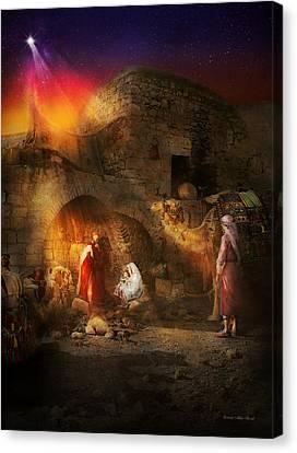 Bible - Jesus - Seeking The Christ Child 1920 Canvas Print by Mike Savad
