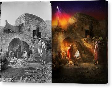 Bible - Jesus - Seeking The Christ Child 1920 - Side By Side Canvas Print by Mike Savad