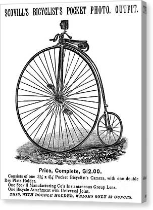 Bicycle Camera Ad, 1887 Canvas Print by Granger