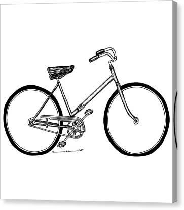 Bicycle Canvas Print by Karl Addison