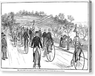 Bicycle Meet, 1883 Canvas Print by Granger