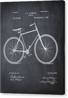Bicycle Patent 1894 Chalk Canvas Print by Bill Cannon