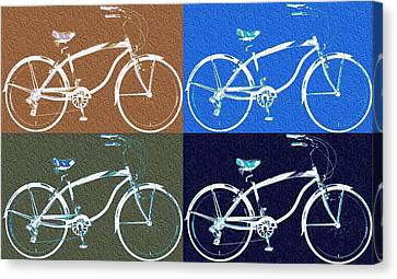 Bicycle Pop Art Poster Canvas Print by Dan Sproul
