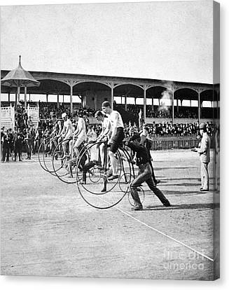 Bicycle Race, 1890 Canvas Print by Granger