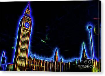 Big Ben 4th Dimension Canvas Print by Christopher Saleh