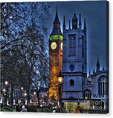 Big Ben At Twilight Canvas Print by Jack Schultz