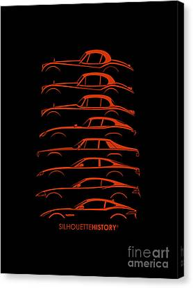 Big Cat Coupe Silhouettehistory Canvas Print by Gabor Vida